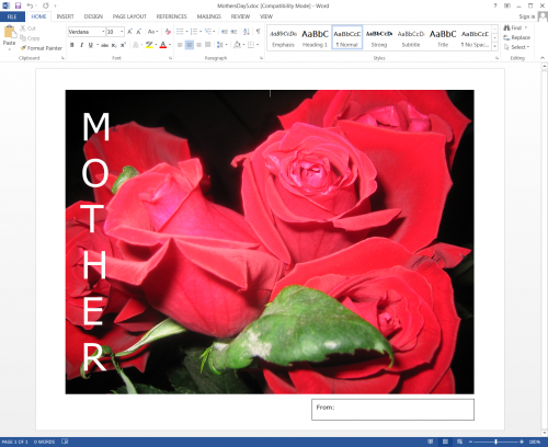 Mother's Day Acrostic
