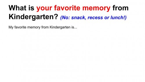 Remembering Kindergarten LESSON (2)